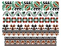 Romanian traditional theme - cdr format. Five traditional romanian models for carpets Stock Photo