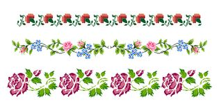 Romanian traditional themes - cdr format. Traditional romanian floral models for carpets royalty free illustration