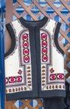 Romanian traditional vest. At a souvenir shop Royalty Free Stock Photo
