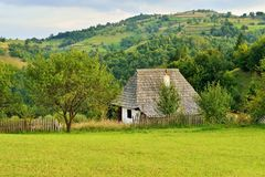 Romanian traditional village house Royalty Free Stock Image