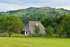 Romanian traditional village house Royalty Free Stock Photo