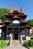 Romanian traditional wood church in Sovata Stock Image