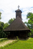 Romanian traditional wooden church Stock Photos