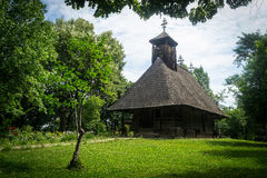 Romanian traditional wooden church Royalty Free Stock Photos