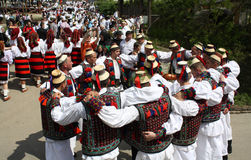 Romanian traditions. Traditional party during an annual event in Maramures, Romania Stock Photos
