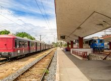 Trains in Railway Station royalty free stock photos