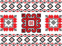 Romanian, Ukrainian, Belarusian red embroidery seamless pattern Stock Image