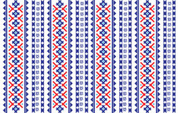 Romanian, Ukrainian, Belarusian red embroidery seamless pattern Stock Photography