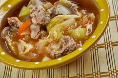 Romanian Vegetable stew with beef Stock Image