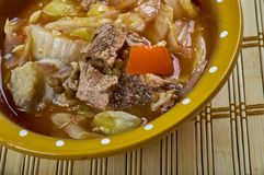 Romanian Vegetable stew with beef Stock Photography