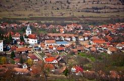 Romanian village. Romanian, transylvanian rural landscape at Rimetea village stock image
