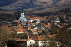 Romanian village. View an authentic Romanian village stock photos