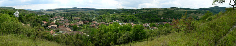 Romanian village. Village Stana is located in Salaj County (north-west of Europe Stock Photography