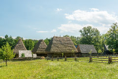 Romanian Village In The Carpathian Mountains Stock Photos