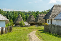 Romanian Village In The Carpathian Mountains Royalty Free Stock Image