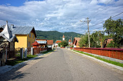 Romanian village landscape Royalty Free Stock Photo