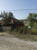Romanian village. An old house in the village of RoÈ™ia, MehedinÈ›i county, Romania royalty free stock photo