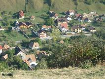 Romanian village posed from above royalty free stock photography