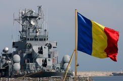 Romanian warship Royalty Free Stock Photos