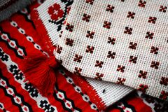 Romanian weaved cloth Stock Photography