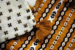 Romanian weaved cloth Royalty Free Stock Photo