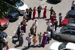Romanian wedding dance stock image