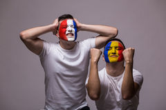 Romanian win, France lose. Royalty Free Stock Images