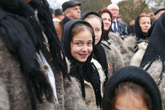 Romanian winter festival in Maramures Royalty Free Stock Photos