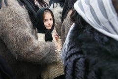 Romanian winter festival in Maramures Royalty Free Stock Photos