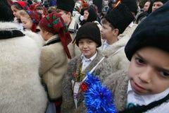 Romanian winter festival in Maramures Stock Image