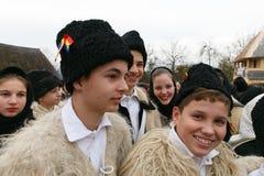 Romanian winter festival in Maramures Stock Photo