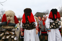 Romanian winter festival in Maramures stock image
