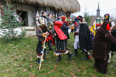 Romanian winter festival in Maramures Stock Photography