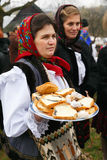 Romanian winter festival in Maramures Royalty Free Stock Photography