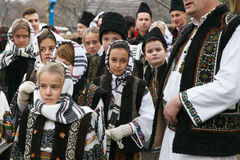 Romanian winter festival in Maramures Royalty Free Stock Photo