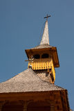 Romanian wood church tower detail Stock Images