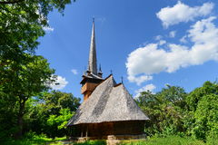 Romanian wooden church. Stock Photo