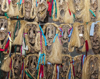 Romanian Wooden Masks Royalty Free Stock Photos
