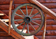 Romanian wooden wheel decoration detail Royalty Free Stock Photography