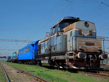 Romanian work train Stock Images