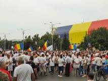Romanians from all over the country met to support PSD Royalty Free Stock Image