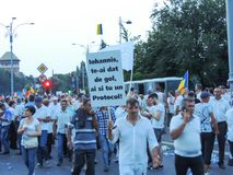 Romanians from all over the country met to support PSD Stock Images