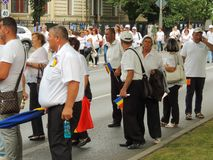 Romanians from all over the country met to support PSD Stock Image