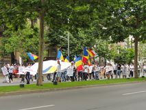 Romanians from all over the country met to support PSD Royalty Free Stock Images