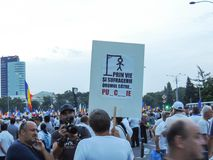 Romanians from all over the country met to support PSD Stock Photo