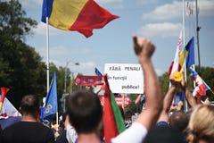 Romanians od zagranica protesta przeciw rzędowi Zdjęcie Royalty Free