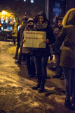 Romanians protest against corruption decree Stock Photography