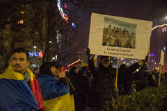 Romanians protest against government Royalty Free Stock Photos