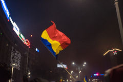 Romanians protest against government Stock Image