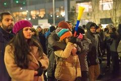 Romanians protest w Wiktoria kwadracie Obrazy Royalty Free